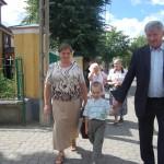 Starosta z żoną i wnukiem