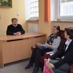 ks.Jerzy Bogacewicz,dyrektor DKP, Barbara Uscinowicz,metodyk z Białegostoku z córka Zosią