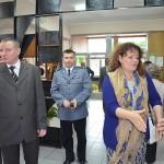 europosłanka Barbara Kudrycka, Jarosław Borowski, komendant policji