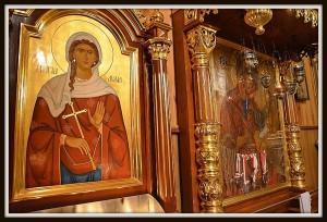 Nowa ikona św.Lidii obok cudownej Bielskiej Ikony Matki Bożej